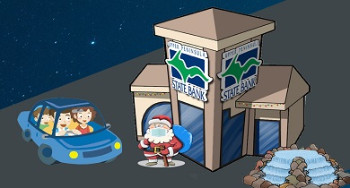 Santa drive by event